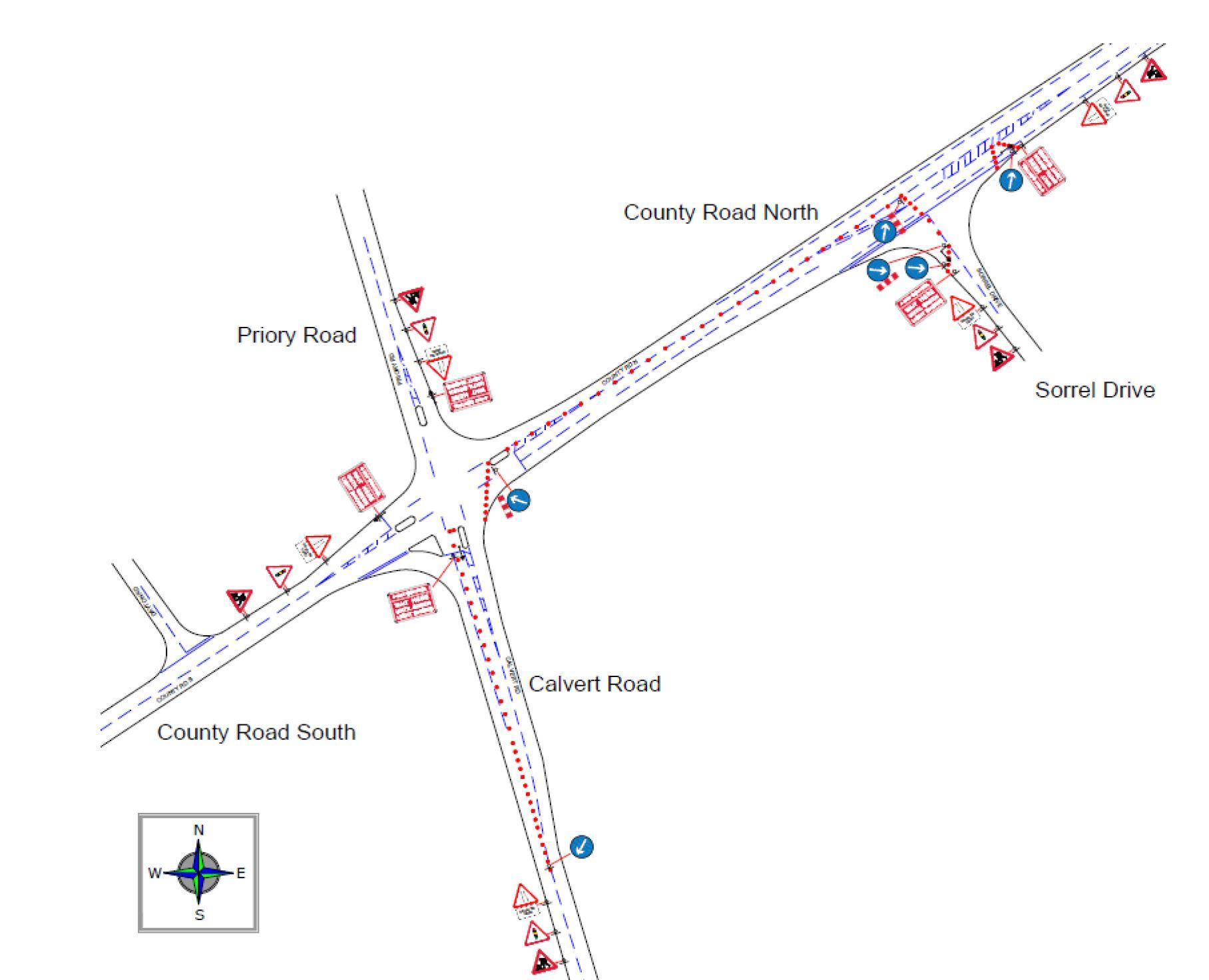County Road roadworks