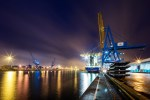 ABP ports at night