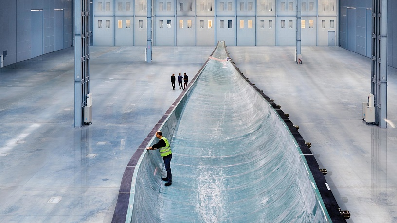 A turbine blade being made at the Siemens facility in Hull.