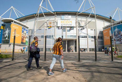 Hull City fans arriving at the KCOM Stadium