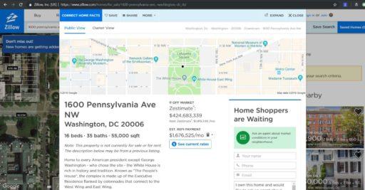 Zillow White House Link no zpid by Dallas Certified Financial Planner Hull Financial Planning