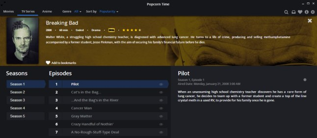 popcorn time tv series