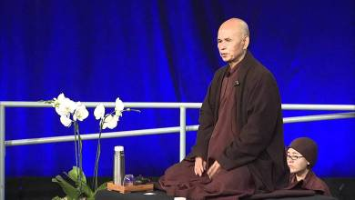"""Photo of Thich Nhat Hanh: """"Mindfulness as a Foundation for Health"""" 