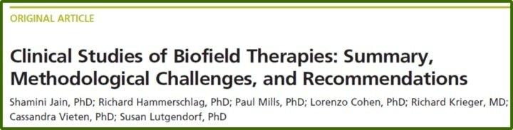 Studies of Biofield Therapies