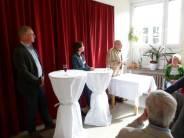 Swen Knöchel, Ivonne Liscke und Werner Lange bei der Eröffnung der Jubiläumsfeier.