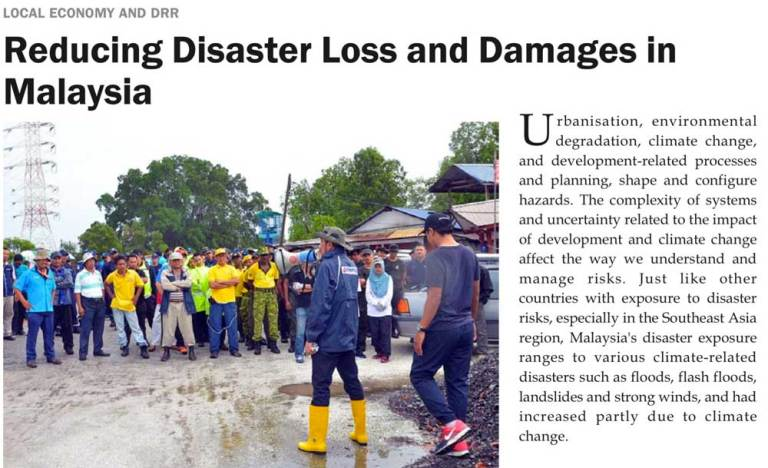 Reducing Disaster Loss and Damages in Malaysia