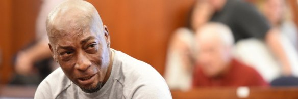 Dewayne Johnson au moment du verdict lors du procès contre Monsanto le 10 août 2018