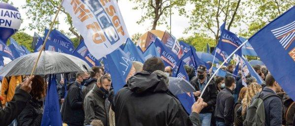 Manifestation de la police nationale à Paris, le 19 mai 2021. © Matthieu de La Rochefoucauld