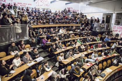 Assemblée générale des étudiants, le 4 avril 2018, à Saint-Denis. Magali Bragard