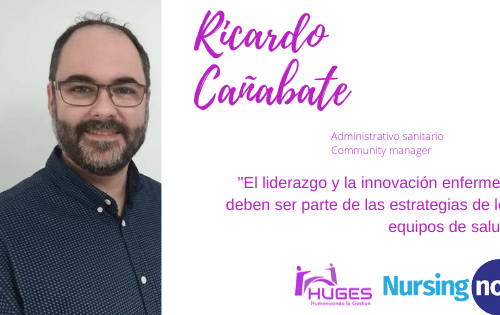 Ricardo Cañabate con Nursing Now HUGES