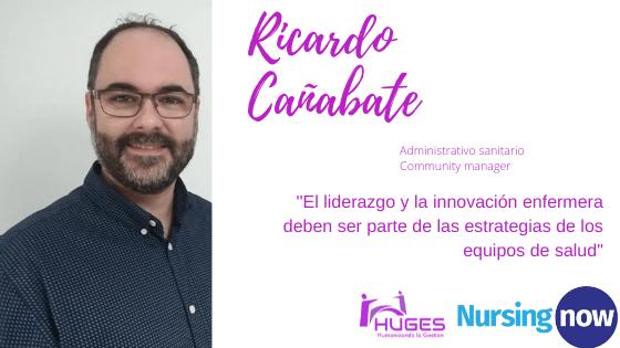 Ricardo Cañabate con Nursing Now HUGES