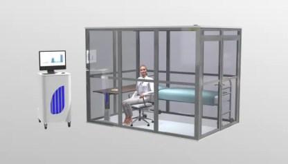 Chambre de calométrie avec patitent (image de synthèse)