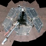 Opportunity rover in Spring 2014 cam