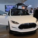 Tesla Model X with Falcon doors