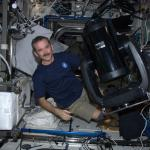 Chris Hadfield in the ISS