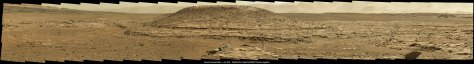 Curiosity panorama Mt Remarkable Sol 595