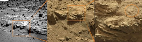 Sol 606, Curiosity Drill Site Selection