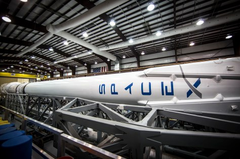 Falcon 9 in the hangar