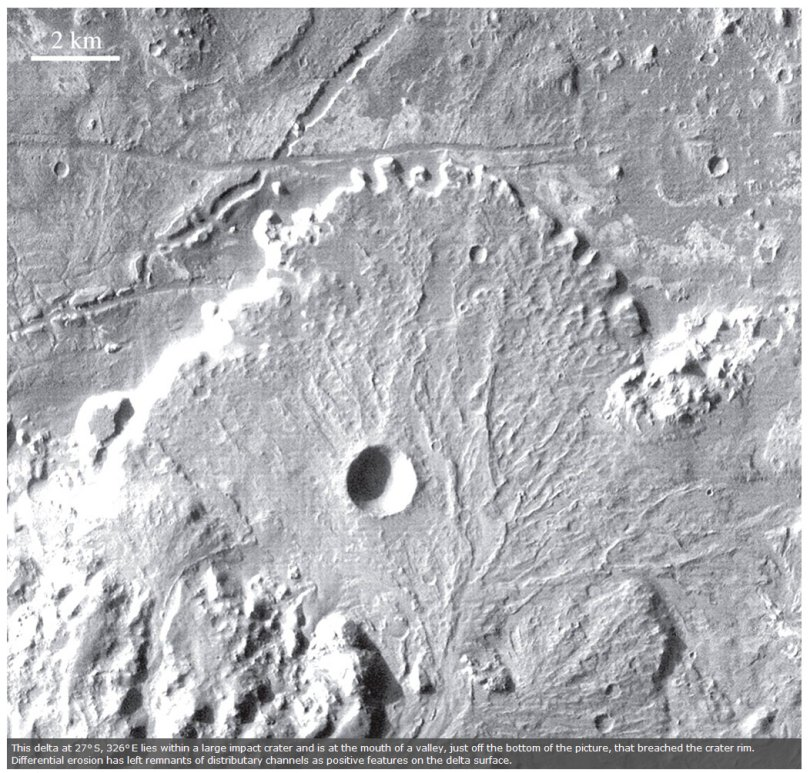 Delta-in-large-impact-crater