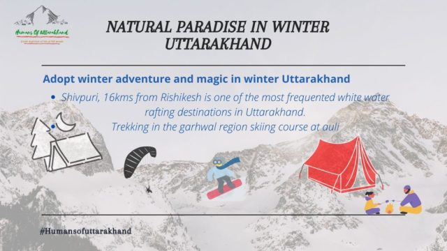 winter adventure and magic in winter Uttarakhand