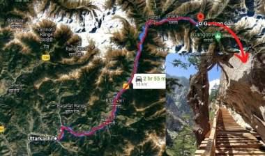 Gartang Gali Trek Map