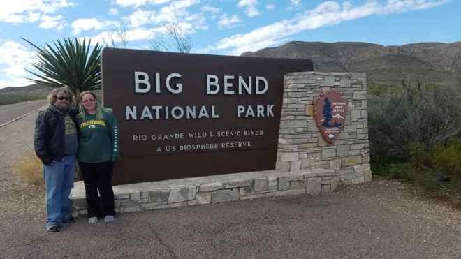 Nomads At Big Bend National Park Sign