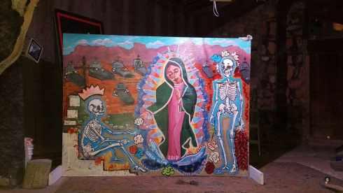 Creepy Art at La Kiva Underground Bar and Restaurant