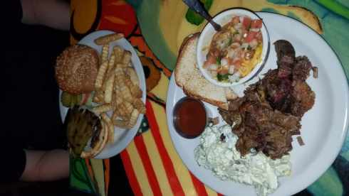 Starlight Theater Antelope Burger and Chopped Brisket