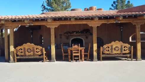 Covered Patio and Fire Place at Marathon Motel and RV Park