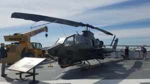 AH 1S Cobra Helicopter USS Lexington