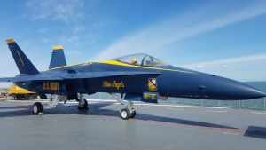 Blue Angels plane USS Lexington