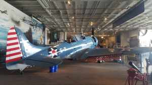 first plane you see inside USS Lexington