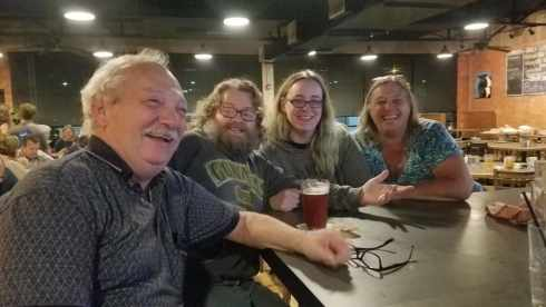 Bob, Al, Shawna, and Jane at Railroad Brewing Co - Corpus Christi