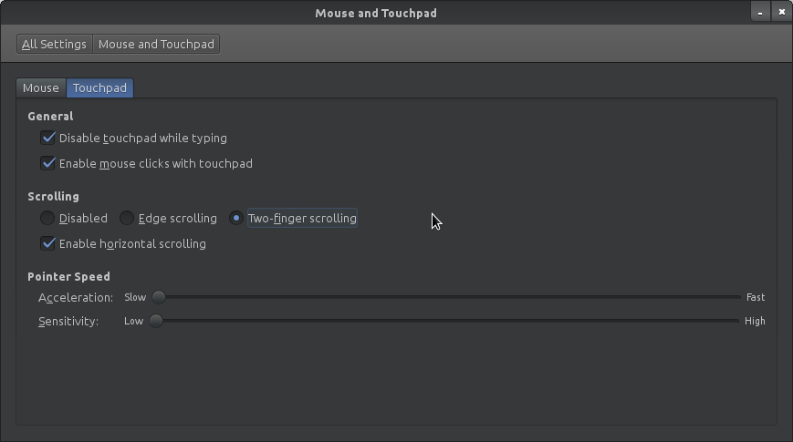 Two Finger Scrolling in Linux