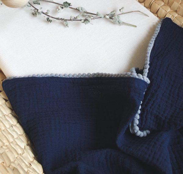 Hydrofiel doek in de kleur blauw