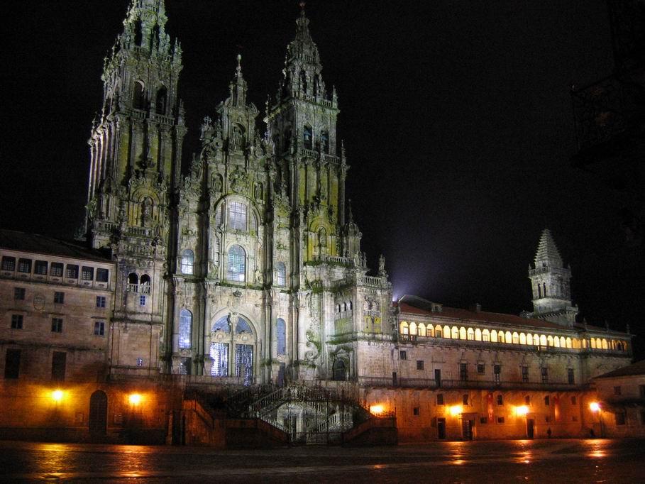 Catedral de Santiago de Compostela a la noche