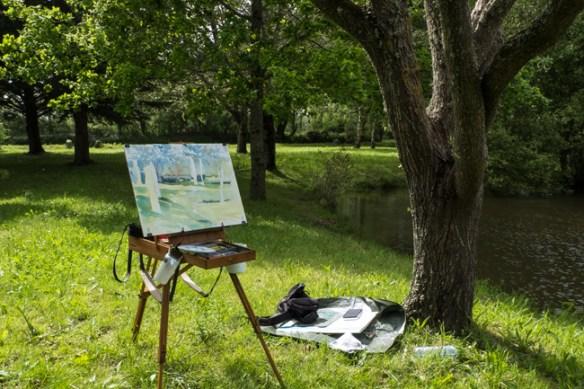 En bord de mer ou dans la campagne, la tranquillité du peintre.
