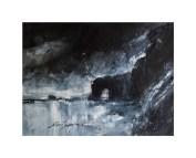 Morbihan (technique mixte, aquarelle, tempéra, acrylique)