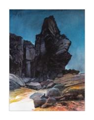 Cotentin. Cap de Carteret (aquarelle)