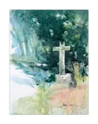 Cotentin. La Haie d'Ectot (aquarelle)