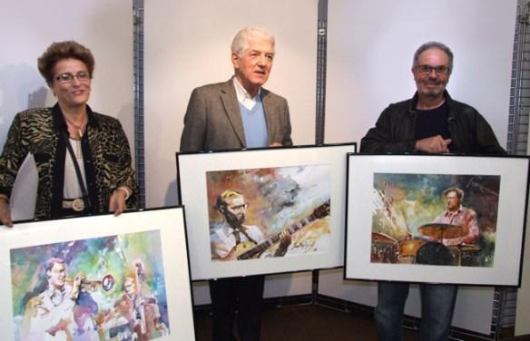 Sylvie Rousseau, Serge Caseris et moi-même.
