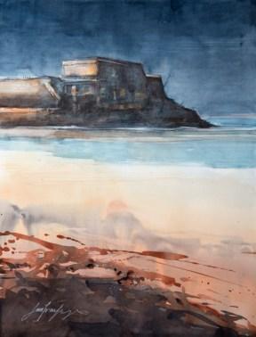Morbihan. Le fort de Penthièvre (interprétation).