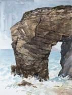 Morbihan, côte sauvage. Arche de Port Blanc.