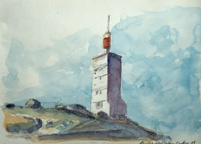 Vaucluse - Mont Ventoux, l'émetteur à la cime.