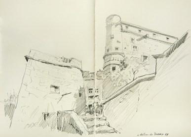Vaucluse - Le Barroux, le château.