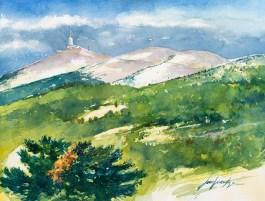 Vaucluse - Mont Ventoux - la Cime avec son émetteur.