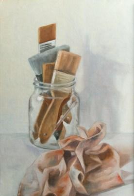 Le chiffon à peinture (huile sur carton toilé 55x38 cm)