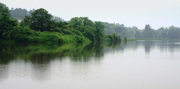 Les cultures maraîchères inondées par la Seine, forment un magnifique lac.