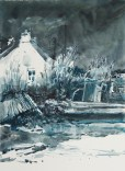 Morbihan. Carnac, anse du Pô. Parc ostréicole abandonné, pointe du Gourec.