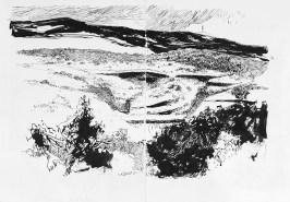 Vaucluse. Besoin. Vue sur le Mt Ventoux et la combe de Curnier.